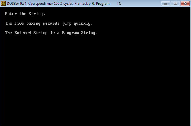 C Program to check given String is Pangram or not